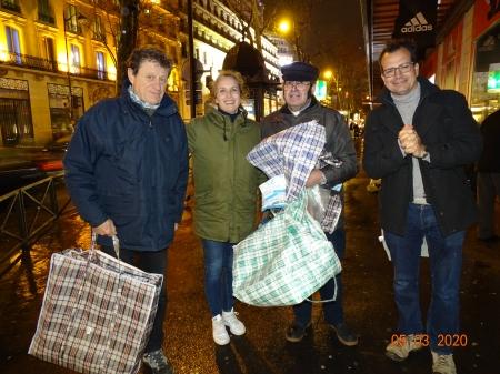 Fin de maraude:Boulevard Haussmann